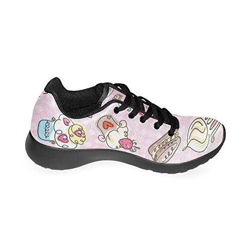 6 For Athletic Sweet US InterestPrint Pattern Women's Lightweight Shoes Size Running Casual Cupcakes Sneakers 15 OZZn5Pq