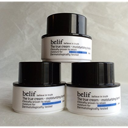 Belif The True Cream Moisturizing Bomb 30ml (10ml X 3, Trial Size) Aqua Moisturizing Night Cream