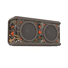 Skullcandy Air Raid Water-resistant Drop-proof Bluetooth Portable Speaker, Realtree, Dark Tan and Orange