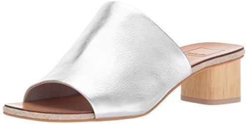 Dolce Kaira Women's Silver Sandal Slide Vita Leather OOwZqzRH