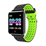 Lyperkin Smart Watch,Bluetooth Smartwatch with Camera Control Touchscreen,Heart Rate Blood Pressure Monitoring Smart Wrist Fitness Tracker Message Reminder Compatible Android/iOS Phones. (Green)