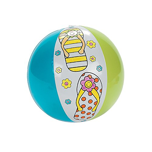 Fun Express Color Your Own Flip Flop Beach Ball (Set of 12)