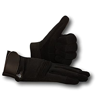 Military Surplus Gear Work Gloves Leather Reinforced Black