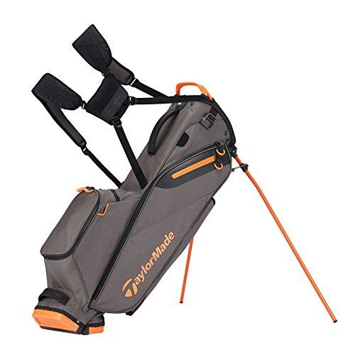 (TaylorMade Golf Flextech Lite Stand Bag Gray/Orange (Grey/Orange) )