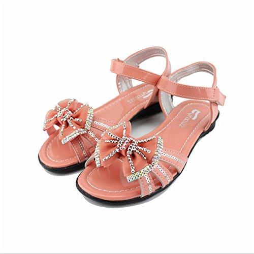 ZGSX zapatos de las sandalias del verano princesa de las muchachas de los nuevos niños se inclinan las sandalias de las sandalias de los niños respirables B