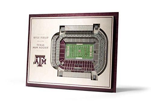NCAA Texas A&M Aggies 5-Layer Stadiumviews 3D Wall ()