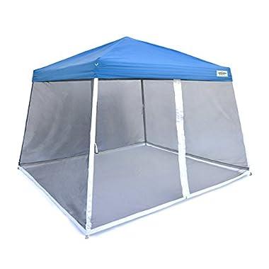 Caravan Canopy Sports V-Series Slant Mesh Wall Enclosure Kit, 12 x 12-Feet