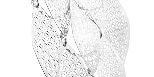 Canyon bijoux Boucles d'oreilles percées ajourées pendantes en argent 925 passivé, 8.2g