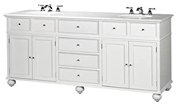 Hampton Bay Double Sink Cabinet Bath Vanity With Granite Top White  35u0026quot;H X 72u0026quot