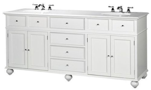 Amazon Com Hampton Bay Double Sink Cabinet Bath Vanity With Granite