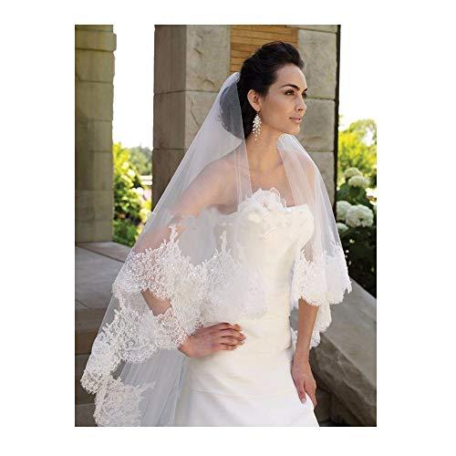 - EllieHouse Women's Custom Made Long 2 Tier Wedding Bridal Veil With Free Comb Ivory E74