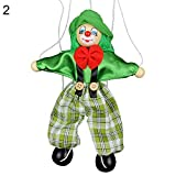 BrawljRORty Toys, Kids Pull String Clown Puppet Wooden Marionette Handcraft Toy Joint Move Doll