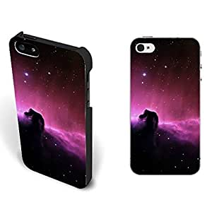 Universe Nebula Starry Pattern Design Galaxy Iphone 5 5s Case Cover Hard Plastic Protective Phone Case Skin (purple starry space)