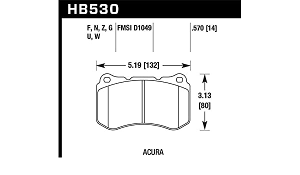 Hawk HPS Front Brake Pads for 07-08 Acura TL Type S HB530F.570