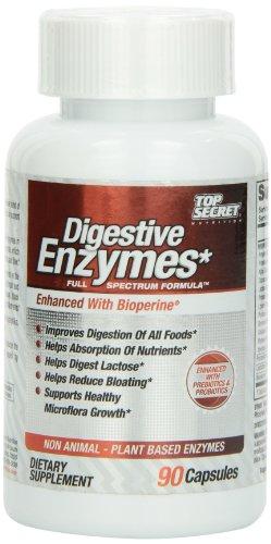 Top Secret Nutrition, enzymes digestives, Full Spectrum avec prébiotiques et probiotiques 90 caps