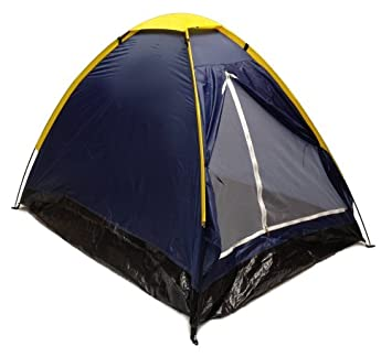 Blue Dome C&ing Tent 7x5u0027 - 2 Person Two Man Navy Yellow Sealed Bottom  sc 1 st  Amazon.com & Amazon.com : Blue Dome Camping Tent 7x5u0027 - 2 Person Two Man Navy ...