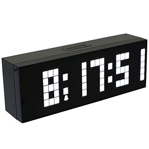 Chihai Digital Led Clock Wall Alarm Digital Calendar Clock Count Down Timer(white)