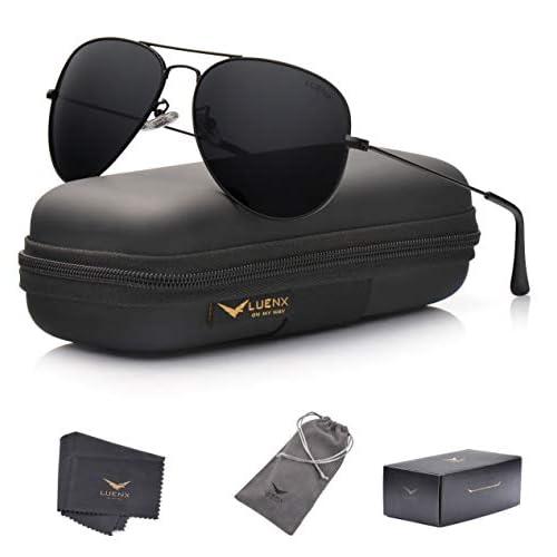 LUENX Men Aviator Sunglasses...