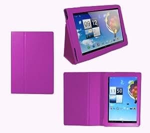 Navitech - Funda para Acer Aspire Iconia Tab A510 y Acer A701 (piel sintética, función atril, incluye protector de pantalla), color morado