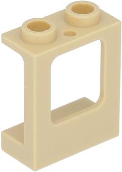 Lego New Tan Window 1 x 2 x 2 Plane Single Hole Top and Bottom No Glass