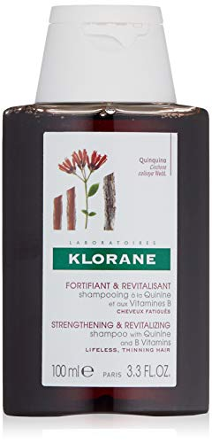 Klorane Shampoo with Quinine and B Vitamins for Thinning Hair, Support Thicker, Stronger, Healthier Hair, Men & Women, 3.3 oz.