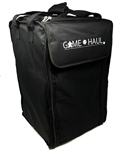 on): 8mm Padded Board Game Carrying Bag w/ Padded Shoulder Straps, Handle, and Top Compartment ()