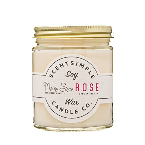 ScentSimple Scented Soy Candles 25+ Scents - Maine Sea Rose