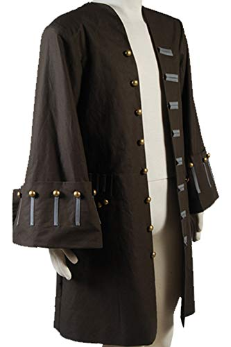 Cosplaysky Halloween Jack Sparrow Costume Pirates of The Caribbean 4 Cosplay Coat XXX-Large by Cosplaysky (Image #4)