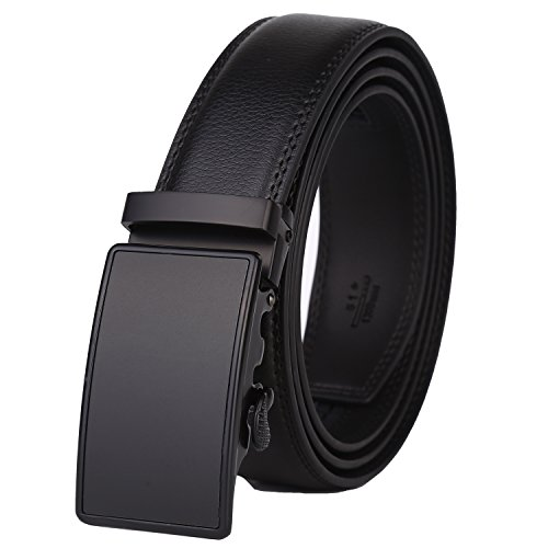 Lavemi Men's Real Leather Ratchet Dress Belt with Automatic Buckle,Elegant Gift Box(55-0027)