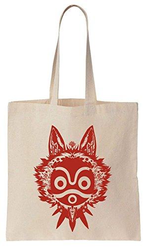 Algodón Princess de Compras Design Reutilizables Tote Bolsos de Mask Red Bag vrHwvTq
