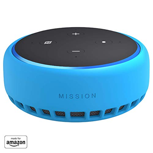 """Made for Amazon"" Mission Cables Skin for All-new Echo Dot (3rd Gen) – Bahama Blue"