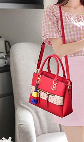 Women Classic Weekender Tote Medium-Size Satchel Style Handbag by Traum Starter (Image #3)