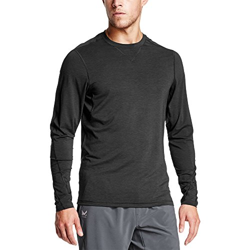 Mission Men's VaporActive Amplified Merino Long Sleeve Shirt, Moonless Night, Medium