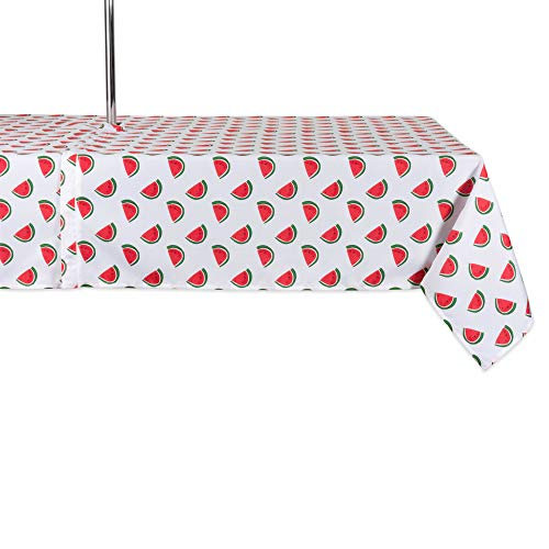 DII CAMZ11301 Spring & Summer Outdoor Tablecloth, Spill Proof and Waterproof with Zipper and Umbrella Hole, Host Backyard Parties, BBQs, Family Gatherings - (Seats 10 to 12), 60x120 w, - Tabletop Umbrella Oval