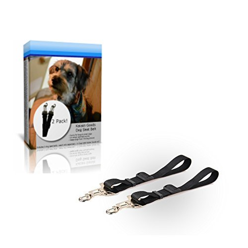 Kaizen Goods Dog Car Seat Belt Clip Tether (Large & Small) 2 Pack by KAIZEN GOODS