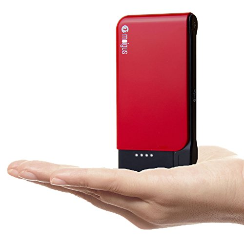 Moigus 6000mAh External Battery Phone Portable Charger Power Bank with Built-in Micro USB Cable, for iPhone, iPad, Samsung Galaxy and More Smartphone (Red) For Sale