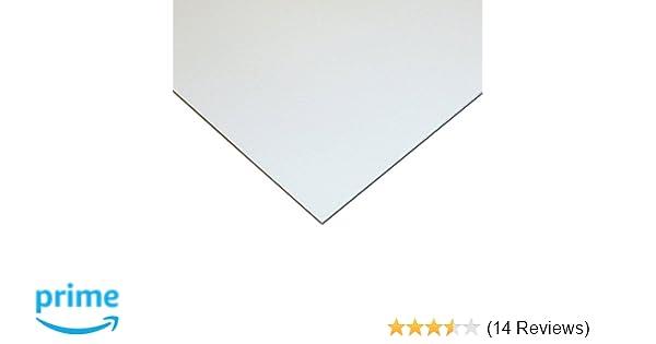 "WHITE STYRENE POLYSTYRENE TRANSLUCENT PLASTIC SHEET .010/"" THICK 19/"" X 25/"""