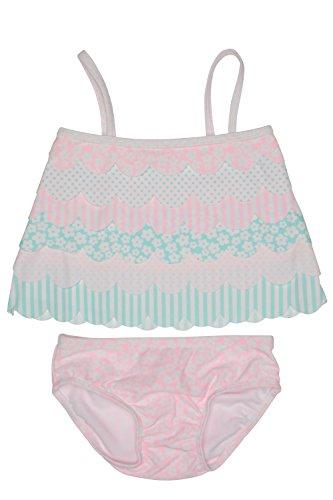 Kate Mack Baby Girls' Petal Parfait Tankini Swimsuit, Multi, - Tankini Mack Nylon Kate
