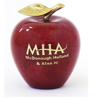 Desktop Gift - Solid Marble Apple Paperweight
