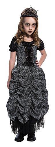 Spider Coffin Princess Costumes (Bristol Novelties Little Boys' Spider Coffin Princess - Costume Age 7-9 Black)