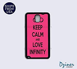 Galaxy Note 3 Case - Keep Calm Love Infinity