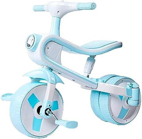 WLB XWJ 2 en 1 puede montar y diapositivas, triciclo adaptado for niños de 2-5-bebé plegable triciclo o regalo de cumpleaños, Triciclo seguro, adecuado for niños de bicicletas Adecuado for niños y niñ