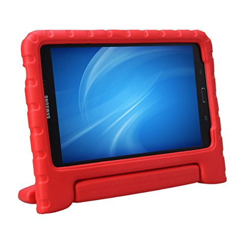 XKTTSUEERCRR Samsung Galaxy Tab 4 8.0 Kids Case, Shockproof Lightweight Super Protective Convertible Handle Stand Cover Case for Samsung Galaxy Tab 4 8.0 Inch Tablet (SM-T330 SM-T331 SM-T335) - Red