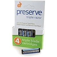 PRESERVE Triple Blade Refills, 4 CT