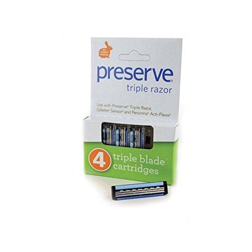 Preserve Triple Razor Refills - 4 PK, (Preserve) 5091