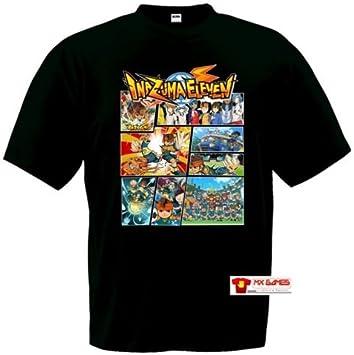Camiseta Inazuma Eleven (Tipo GTA) Negra (Talla: Talla M Unisex Ancho/Largo [53cm/72cm] Aprox): Amazon.es: Deportes y aire libre