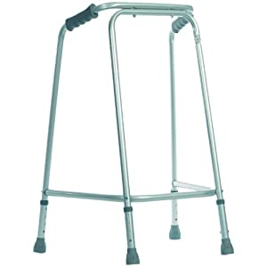 NRS Healthcare Tall Domestic Height Adjustable Walking Frame (Eligible for VAT Relief in The UK) 4