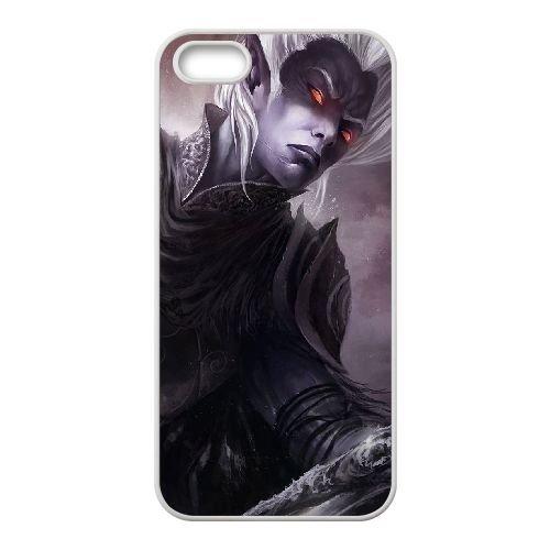 K9U66 elfes noirs warhammer D6P1GA coque iPhone 5 5s cellulaire cas de téléphone couvercle coque blanche KU9AUC4IS