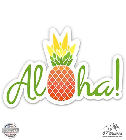 Amazon com : GT Graphics Aloha Pineapple Cute Hawaii - Large