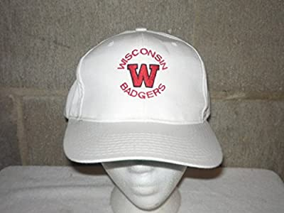 VINTAGE WISCONSIN BADGERS 1980's SNAPBACK HAT by Yupoong- ALL STITCHED- VERY RARE STYLE from Yupoong